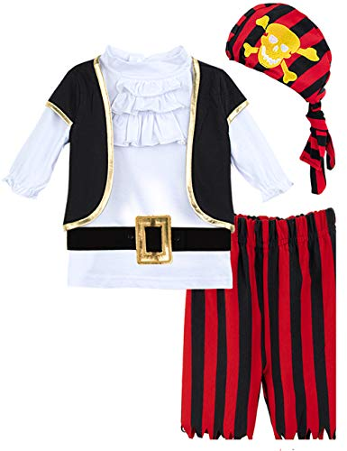 COSLAND Toddler Baby Halloween Costume Pirate Outfits for Boys (18-24 Months)