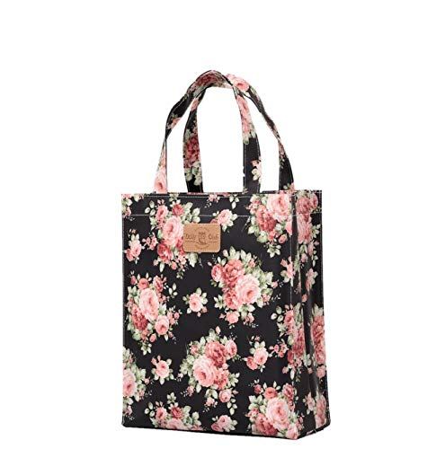 Cadeau Livre Shopping tout hibou De Cabas Musique Zip Imperméables Fourre Rose Bookbag Sturdyfoot Sacs Toile Sac Cirée Goulot A Avec OaaqXz
