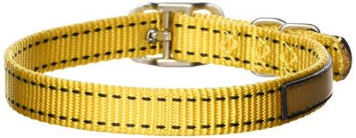 "Hamilton 5/8"" x 18"" Pet Sport ID Single Thick Nylon Collar, Yellow"