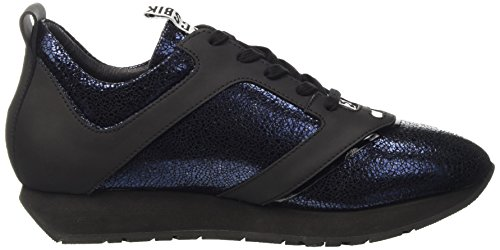 Bikkembergs Runn-Er 786 Shoe W Leather Cracked, Scarpe Low-Top Uomo Blu (Blue/Black)