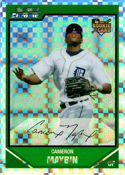 (2007 Bowman Chrome Draft Picks Xfractor #BDP12 Cameron Maybin Baseball Rookie Card - Only 299 made!)