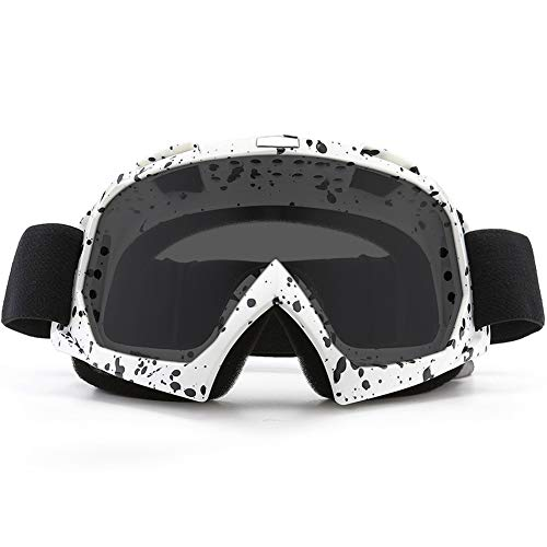 SPOSUNE Motorcycle Goggles, ATV Dirt Bike Off Road Racing MX Riding Goggle Anti-Scratch Dustproof Bendable UV400 Eyewear Padded Soft Thick Foam,Adjustable Strap Adults Cycling Motocross