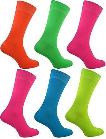 d5b7b0bcf5e WOH - Chaussettes modèles homme garçon 5 pack de 5 couleur fluo Rock N Roll  fête EU 39-46  Amazon.fr  Vêtements et accessoires