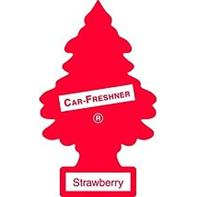LITTLE TREES Car Air Freshener | Hanging Paper Tree for Home or Car | Strawberry | 12 Pack: Automotive