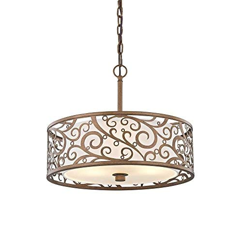 18 Inch Drum Pendant Light in US - 7