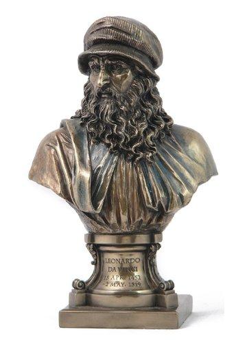 Bronze Finish Leonardo Da Vinci Bust Statue Renaissance Man