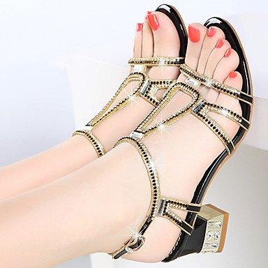 Crystal us6 uk4 Women's Novelty cn37 Novelty 5 gold Black LvYuan Casual ggx Summer Walking 7 Comfort Heels Microfiber Synthetic Stiletto HeelPurple 5 eu37 Comfort PU 5 Fall Dress RqZ56wx
