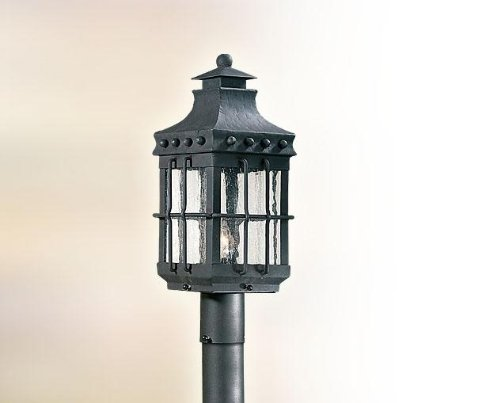 (One Light Natural Bronze Post Light)
