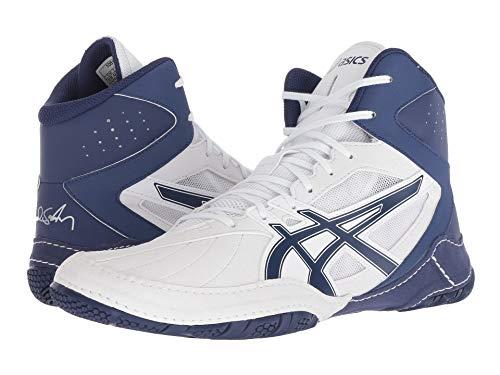[asics(アシックス)] メンズランニングシューズ?スニーカー?靴 Cael V8.0 White/Indigo Blue 9.5 (27.5cm) D - Medium