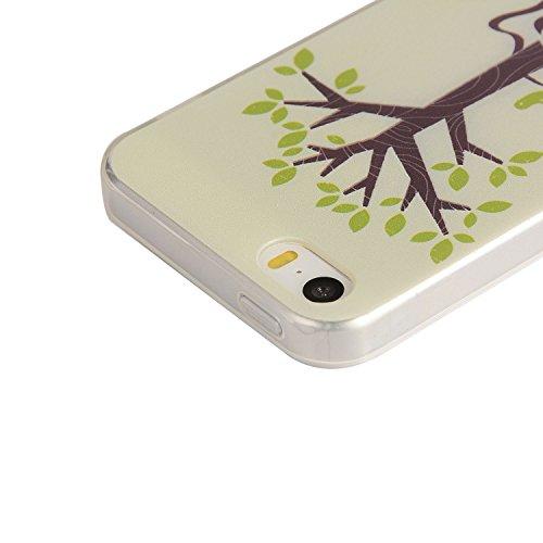 Für Apple iPhone 5 5G 5S / iPhone SE (4 Zoll) Hülle ZeWoo® TPU Schutzhülle Silikon Tasche Case Cover - YG002/ Guita Baum
