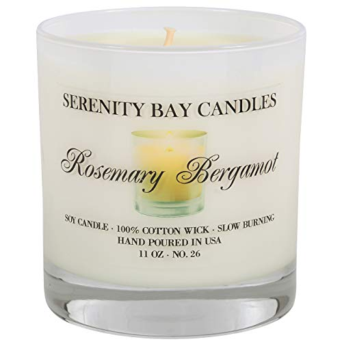 Serenity Bay Soy Candle in Glass Tumbler | Highly Scented | Long Burning | Infused with Fragrance & Essential Oils for Relaxation & Aromatherapy | Cotton Wick | Gift Box -