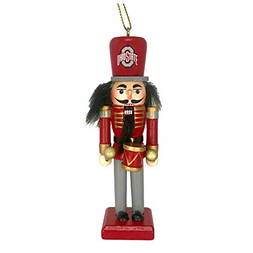 Officially Licensed Ohio State Buckeyes Collegiate Nutcracker Christmas Ornament - 5 Inches ()