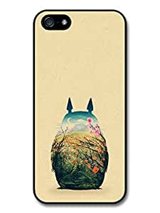 My Neighbour Totoro Hayao Miyazaki Coloured Illustration case for iPhone 5 5S A8261