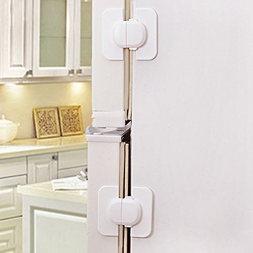YiHao Baby Safety Locks - (5Packs) Refrigerator Fridge Freezer Door Locks Latches Catch Toddler Baby Safety