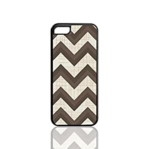 Black Zig Zag Chevron Pattern Custom Hard Plastic back cell Phones Case for Apple iphone5c - iphone 5c Case Cover