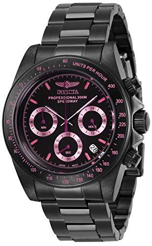 Invicta Men's Speedway Quartz Watch with Stainless Steel Strap, Black, 20 (Model: 27773)