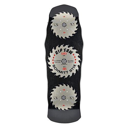 Schmitt Stix Skateboards Ripsaw Modern Concave Deck, Black, 10 x 30