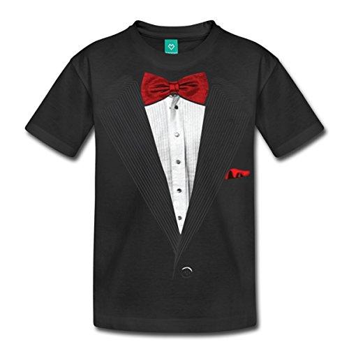 tuxedo-tux-fake-bow-tie-kids-premium-t-shirt-by-spreadshirt-youth-m-black