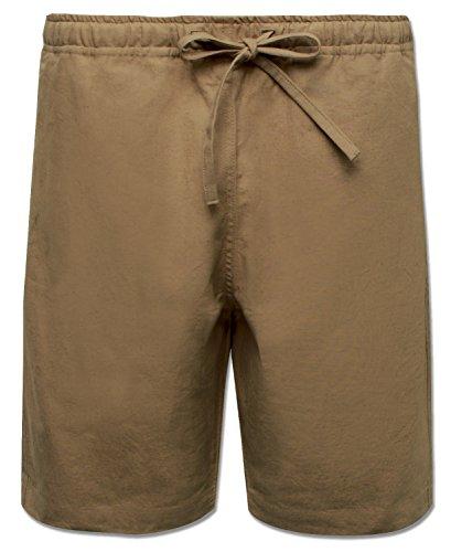 Soul Flower Men's Jammin Hemp Shorts (X-Large, Sand)