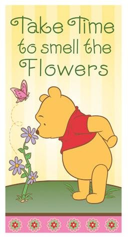 Pooh Flower (Winnie the Pooh Mini Flag- Take Time to Smell the Flowers)