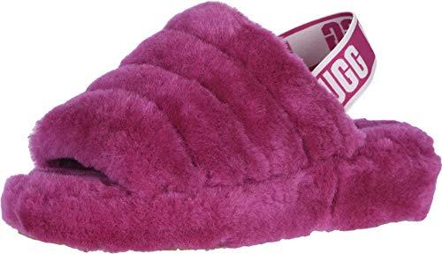 Elastic Slide - UGG Women's Fluff Yeah Slide Wedge Sandal, Fuchsia, 10 M US