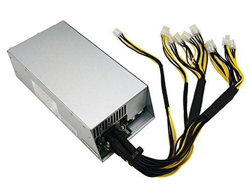 Switching Power Supply for Bitmain AntMiner L3+ S9 T9 (Model Number: APW3++-12-1600-A3), Wide Voltage Design, 1200W / 1600W , 10 of 6-pin PCIe Connectors by Bit-mark