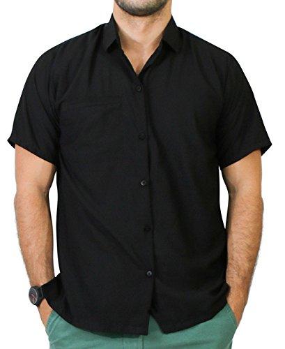 La Leela Matching hawaiian shirt and dresses mens 70s 80s 90s retro Vintage Island mens Shirt XS Black Gifts