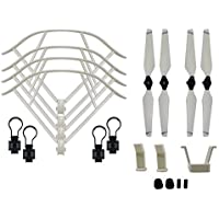 BTG Part Kit for DJI Mavic Pro RC Drone: Propellers + Quick Release Propeller Guards + Landing Gear (Color: White)