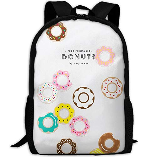 DKFDS Backpacks Most Durable Lightweight Personal Travel Hiking Backpack Daypack - Donut Printables Nnational Donut Day