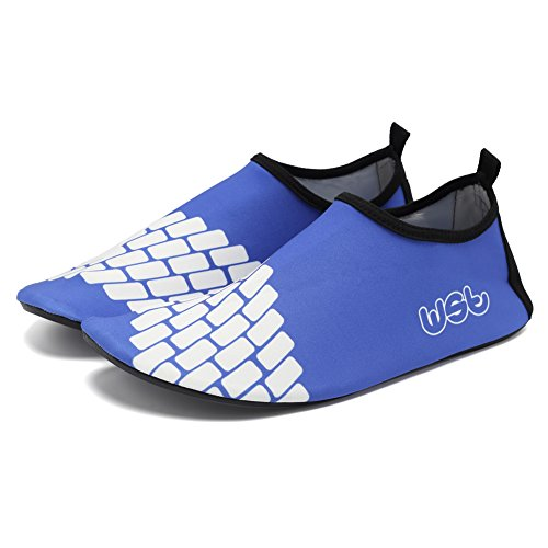 Cior Mannen Vrouwen En Kinderen Water Schoenen Op Blote Voeten Huid Schoenen Antislip Voor Strand Zwembad Surf Zwemmen Oefening Sneaker S.blue