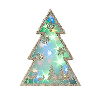 Holographic Christmas Tree.Amazon Com One Hundred 80 Degrees Holographic Lighted