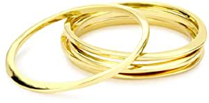 "Jules Smith ""Surf"" 14k Gold-Plated Bangle Bracelet Set, 9"""