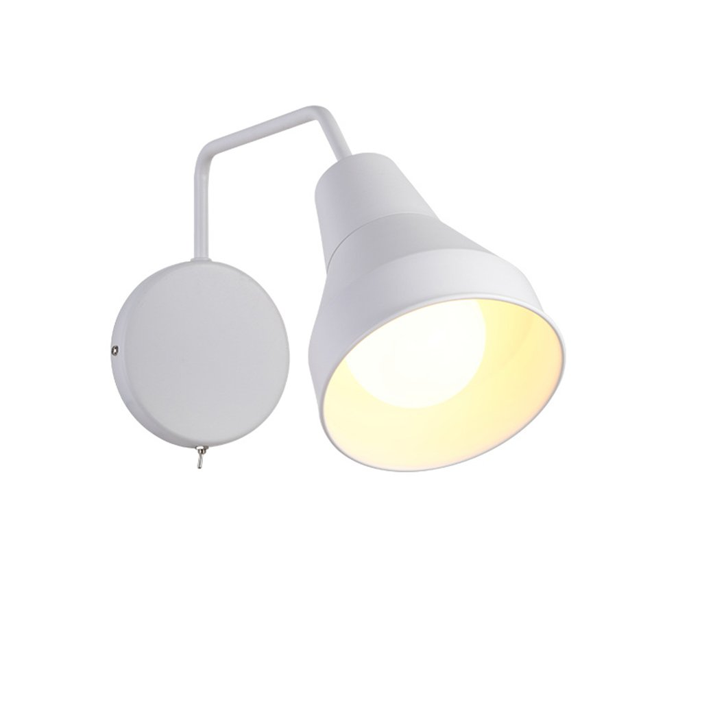 JI Bin Shop® Wandleuchte - Bügeleinheit TypE27 (Nicht inkl. Glühbirne) Schwarz Weiß Modern Modern Leselampe Schlafzimmer Wohnzimmer + (Farbe   Weiß)