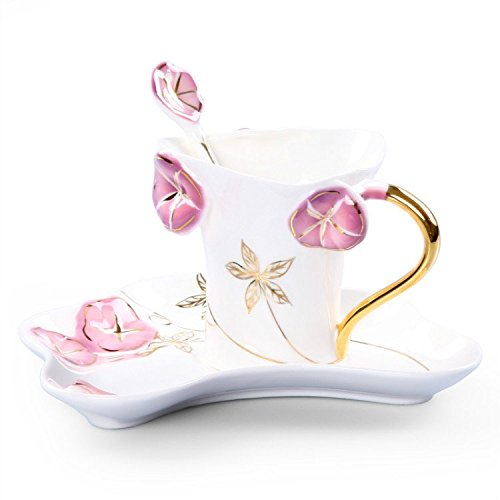 CSKB Country Style Pink Lotus Leaf Pattern Vintage China ...