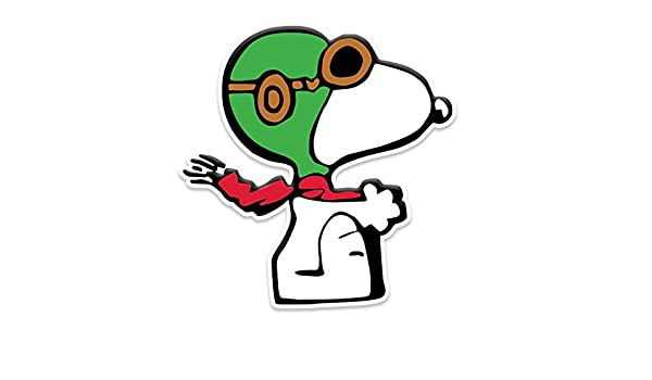 Red Baron Cartoon Dog Flying Window Laptop Car Sticker 5.5 Bargain Max Decals