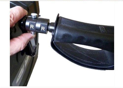 Paire de raccords rapides pour mini vélo d'exercices MagneTrainer – Permet de déconnecter rapidement le jeu de pédales pour une utilisation avec des accessoires spécialisés comme Ergo-Handles – Poignées ergonomiques et un jeu de pédales extra larges.