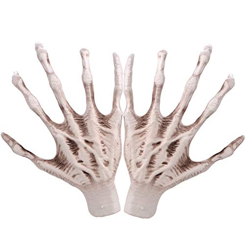 Witch Hands, 1 Pair Realistic Plastic Skeleton Hands for Halloween Party Decoration Haunted House Props -