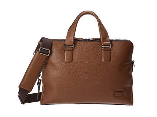 (TUMI Men's Harrison Seneca Slim Brief Briefcase, Umber Pebbled, One Size)
