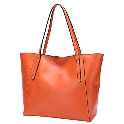 Orange Leather Handbag - 1