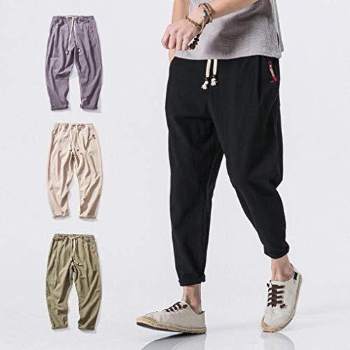 Color Otoño Cómodo Los Harén Chándal Pantalones Hombres Casuales Primavera Moda Battercake Negro Sólido De Jogging qp8UZxY