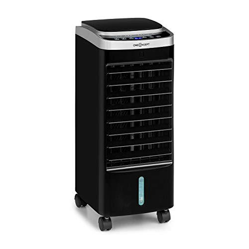 oneConcept Freshboxx Pro- 3-in-1 Air Cooler, Fan, Humidifier, Power: 65 W, Air Flow: 966 m³ / hour, 3 Wind Speeds, Water…