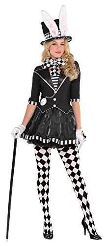 Harlequin Plus Size Costumes (Dark Mad Hatter Adult Costume - X-Large)