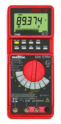 AEMC MX57EX TRMS Intrinsically Safe Digital Multimeter, 50 Megaohms Resistance, 750V AC, 1000V DC Voltage, 500mA AC/DC Current