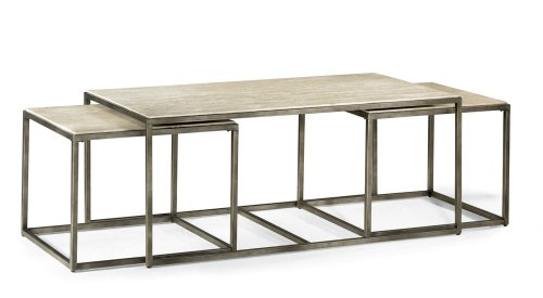 Travertine Top Coffee Table (Hammary Cocktail Modern Basics - 190-910)