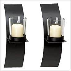 Gifts U0026amp; Decor Modern Art Candle Holder Wall Sconce Plaque, ...
