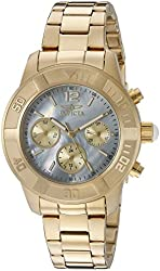 Invicta Women's 21612 Angel Analog Display Swiss Quartz Gold Watch