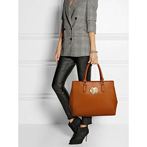 For Shoulder Clearance Tote For Bag Bag Sale Size Women Holiday Brown 00349 Body LeahWard Cross Tote Large School Office Handbags Bags qpwnaYI