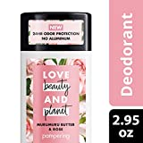 Love Beauty Planet Deodorant, Murumuru Butter and Rose, 2.95 oz