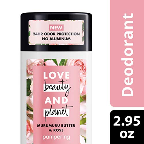 (Love Beauty Planet Deodorant, Murumuru Butter and Rose, 2.95 oz)