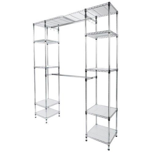 Closet System Storage Organizer Garment Rack Clothes Hanger Dry Shelf Heavy Duty by Balance World Inc